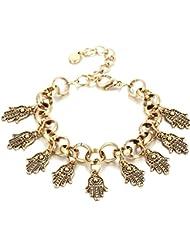 Hot And Bold Mesmerizing Fashionable Gold Plated Charm Bangles & Bracelets For Women & Girls. Free Size. Designer...