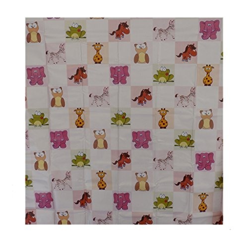 Aarushi Baby Pink Rubber Mat With Animals Print( ARSH_55)(color May Vary)