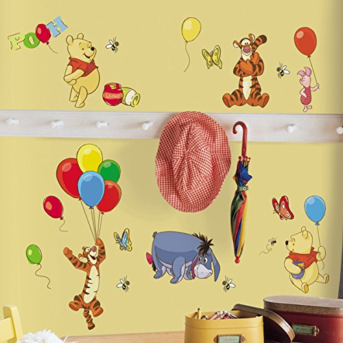 Roommates Pooh And Friends Peel & Stick Wall Decal Rmk1498Scs