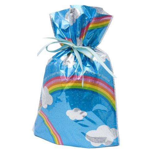 4-Piece Drawstring Gift Bags, Large, Rainbows