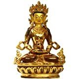 Crown Buddha - Copper Statue Gilded With 24 Karat Gold