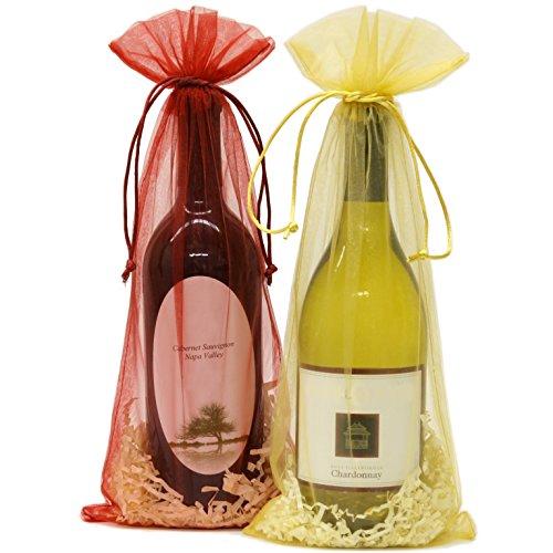 20 Designer Wine Organza Gift Bags Gift Bags