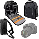 DURAGADGET High Quality DSLR Camera Backpack / Rucksack With Adjustable Padded Interior For Nikon D5300 Digital SLR Camera With 18-55mm VR Lens Kit - Black (24.2 MP) 3.2 Inch LCD With Wi-Fi And GPS