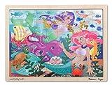 Melissa & Doug Mermaid Fantasea Wooden Jigsaw Puzzle (48 Pieces)