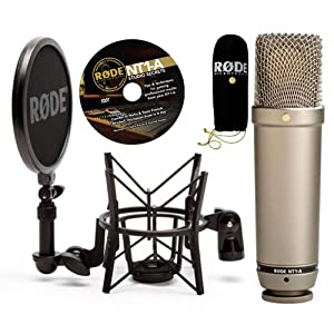 new rode nt1 a cardioid condenser microphone bundle recording package 698813001453 ebay. Black Bedroom Furniture Sets. Home Design Ideas