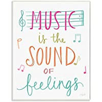 The Kids Room By Stupell Music Is The Sound Of Feelings Wall Plaque Art