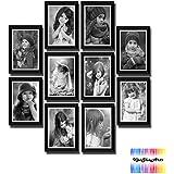 Pearl Black Photo Frame Set Of 10 Pcs Color Black 10 X 12