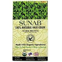 SUNAB-CERTIFIED ORGANIC AND 100% NATURAL DARK BROWN HAIR COLOR