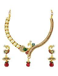 Sukkhi Peacock Gold Plated Kundan Necklace Set