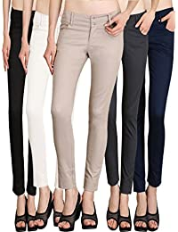 NGT Womens Formal Beige, Black, Navy Blue, Grey And White Trouser In Special Quality.