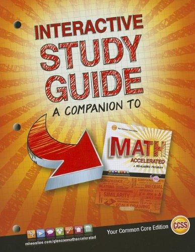 Merrill Pre-Algebra: Glencoe Math Accelerated by McGraw-Hill Education  Editors (2012, Paperback, Study Guide)