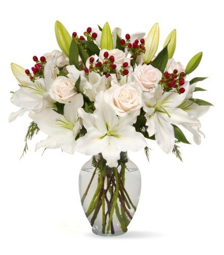 Benchmark Bouquets White Elegance, With Vase