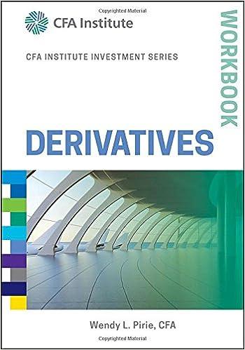Derivatives Workbook (CFA Institute Investment Series)