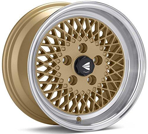 15×7 Enkei ENKEI92 (Gold w/ Machined Lip) Wheels/Rims 4×100 (465-570-4938GG)