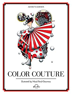 Color Couture: A Stress Relieving Adult Coloring Book, Premier, Blue Star, New B
