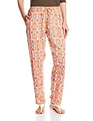 Amare Women's Printed Palazzo With Side Zipper - B017BLWMQU
