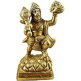 "RoyaltyLane Hindu Art Décor Handmade - Brass Statue Of Lord Hanuman - Hinduism Monkey God Idol - 4"" X 2"" X 1.8"""
