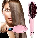 Glive's Simply Hair Straight Ceramic Straightening Brush Hair Straightener, Curler And Styler
