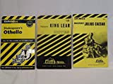 Lot of 3 Shakespeare CliffsNotes (King Lear, Othello, Julius Caesar)