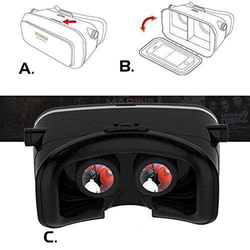 Leelbox 3D VR Occhiali Realtà Virtuale VR Box occhiali 3D VR cuffia per film in 3D / giochi
