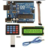 ARK TECHNOSOLUTIONS Arduino UNO With Pack Of( LCD ,Usb Cable,keypad,20 Female To Female Connector)