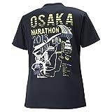 (ミズノ)MIZUNO 大阪マラソン2015 ロゴ入りTシャツ(バックプリント ランニングコースイラスト) [ユニセックス] J2MA5Y55 09 ブラック XL