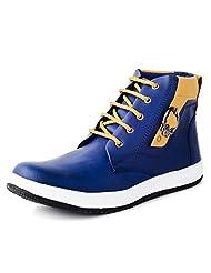 Windus Men's Blue Faux Leather Shoes (7 UK)