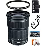 The Imaging World Canon EF 24-105mm F/3. 5-5. 6 IS STM Lens + UV Filter + Capkeeper + Accessory Kit Bundle