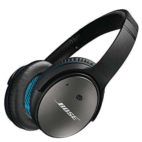 Bose® QuietComfort® 25 - Auriculares supraurales compatibles con Samsung y Android (Acoustic Noise Cancelling®, con micrófono, control remoto integrado), negro