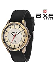 AXE Style Casual Analogue White Dial Men's Watch - X0141R1_White