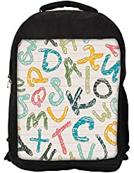 """Snoogg Colors Of Alphabets Casual Laptop Backpak Fits All 15 - 15.6"""" Inch Laptops"""
