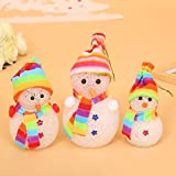 Crystal Colorful Mini Led Light Santa Claus Christmas Snowman Puppet Changeable Lighting Night Lights Home Decoration...