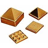 "2"" 91 Pyramids In Total, Wish Pyramid, Metal Pyramid, Vastu Pyramid, Set Of Three Pyramid, Ashtdhatu Vastu Pyramid"