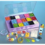 Mega Loom Band Watch And Bracelet Kit - 4000 Rainbow Color Bands, 120 S Clips And 4 Watches
