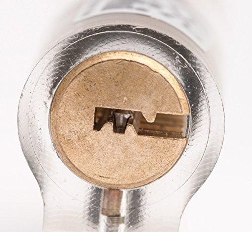 G2PLUS Zylinderschloss Transparents Übungsschloss Schloss Schlössern Vorhängeschlösser Übungszylinder mit 2 Stabilen Schlüsseln für Schlosser Anfänger - 5