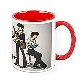 HomeSoGood Musical Quotes From Beatles White Ceramic Coffee Mug - 325 Ml