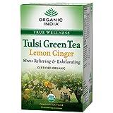 Organic India Tulsi Green - 18 Tea Bags (Lemon Ginger)