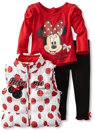 Amazon.com: Disney Baby-Girls Infant 3 Piece Minnie Mouse ...