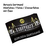 Borussia Dortmund Flag/Hoisting Flag/Flag Large 140x 90EYELET CURTAINS Signal Iduna Park Bvb 09