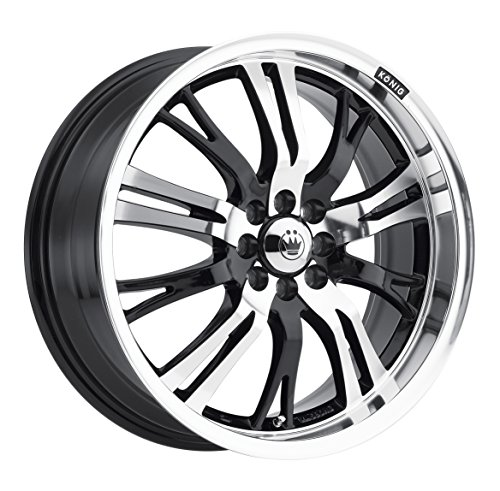 Konig Unknown Gloss Black Wheel with Mirror Machined Face (17×7″/4x100mm)