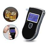HANLUCKYSTAR Nuevo Policia de Nueva Alcoholimetro Digital Probador Tester Detector del Alcohol de la Respiracion,la Calidad Buena y Alta precisión,5 Boquillas Desechables (Negro)