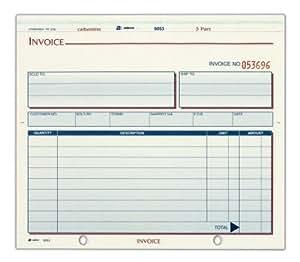 Amazon.com : Adams Invoice Unit Set, 3 Part, Carbonless, 8.5 x 7.5 Inches, 50 Sets per Pack ...