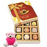 Chocholik Luxury Chocolates - Beautiful & Enjoyable Treat Of White Chocolates With Teddy