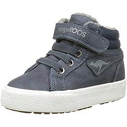 KangaROOS Unisex-Kinder Kavu Iii Hohe Sneakers, Blau (Dk Navy/Grey 423), 26 EU