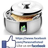 Parasnath Stainless Steel Chapati Box/Casserole Set/Bread Container /hot Pot-1800 ML