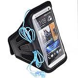 SumacLife Meshy Running Sports GYM Armband Case For HTC ONE / Motorola Moto X (Black)