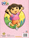 Yellow Dora the Explorer Coloring & Activities Book and Band, and 16 Crayola Crayons Box (Pack of 3)