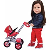 The New York Doll Collection Bye Bye Baby Doll Stroller Play Set For 18 Inch Dolls - Great For American Girl Dolls And Doll Accessory Set