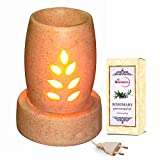 Round Base Ceramic Electric Aroma Small Ceramic Diffuser With Rosemary Essential Oil - Design 55/A