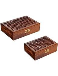 Craft Art India Handmade Wooden Jewellery /Accessories Storage Box -set Of 2
